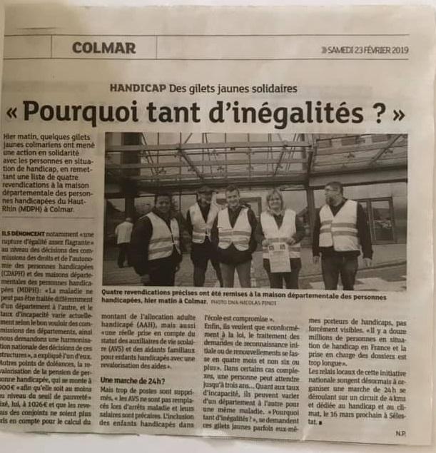 Article presse colmar mdph
