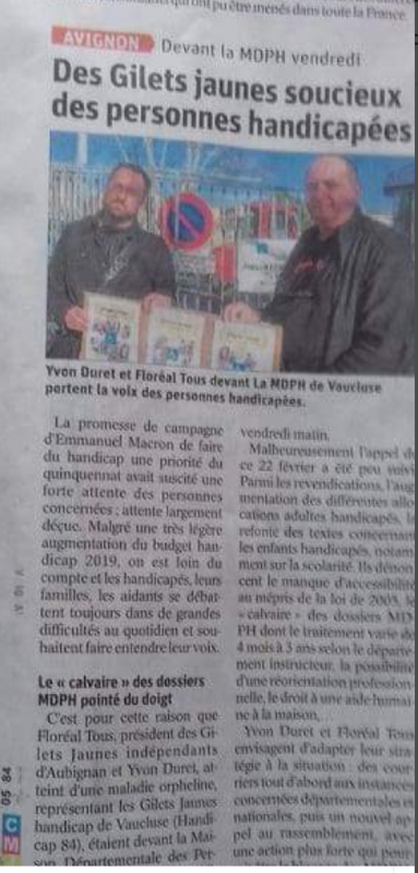Article journal du 84 4