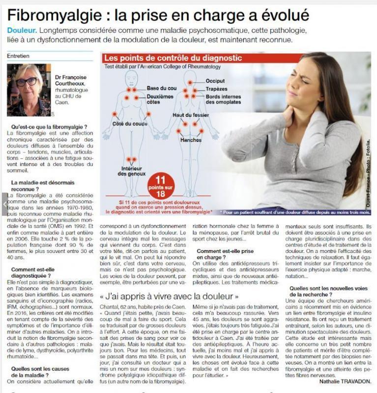 Article presse sur fibromyalgie